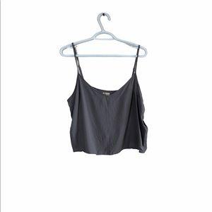 🎀3/$30 Hollister Grey thin strap Crop Tank top